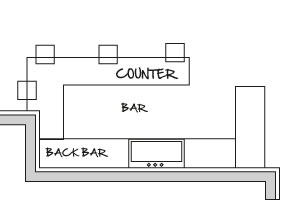 Basement Bar Floor Plan. Basement Bar Plans