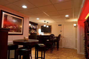 Basement Bar Designing a Man Cave  Ideas for
