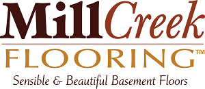 MillCreek wood panel basement flooring