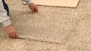 Carpet tiles for basement installation