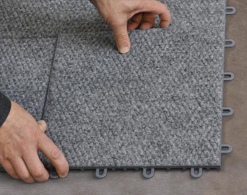 Basement Carpeted Floor Tiles
