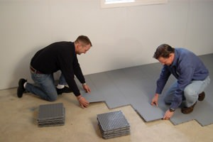 Waterproof Basement Floor Matting Basement Subfloor Systems - Best material for basement floor